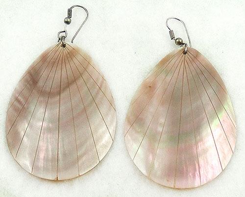 Natural Shell - Blush Pink Shell Drop Earrings