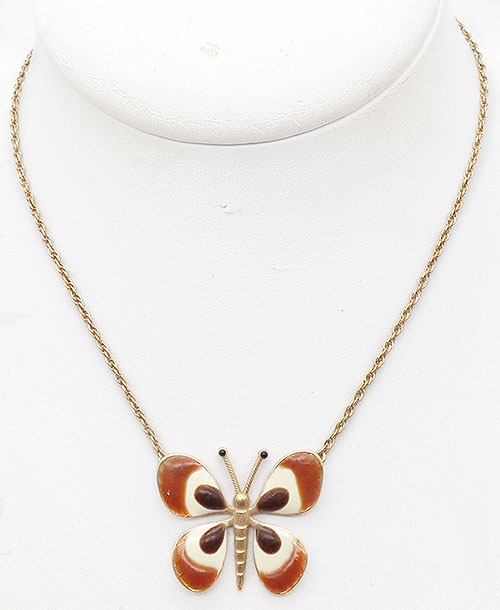 Newly Added Grosse Enameled Butterfly Necklace