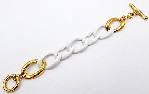 Monet - Monet White Chain Bracelet