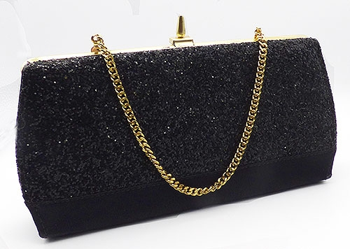 Newly Added Black Glitter Evening Purse
