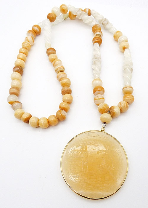 Newly Added MMA Zodiac Aries Agate Stone necklace