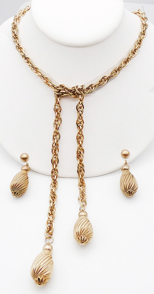 Newly Added Cathé Gold Lariat Necklace Set