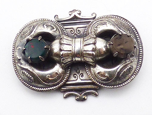 Newly Added Victorian Revival Scottish Pebble Brooch