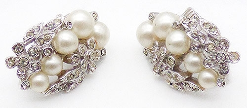 Newly Added Marvella Rhinestone and Pearl Earrings