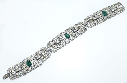 Newly Added Art Deco Geometric Rhinestone Bracelet
