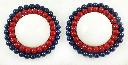 Patriotic Jewelry - Patriotic Red White and Blue Earrings