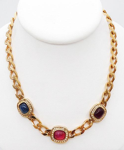 Germany - Grosse Germany Glass Cabochon Necklace