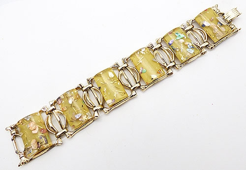 Newly Added Yellow Lucite Confetti Bracelet