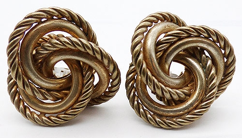 Haskell, Miriam - Miriam Haskell Gold Knot Earrings