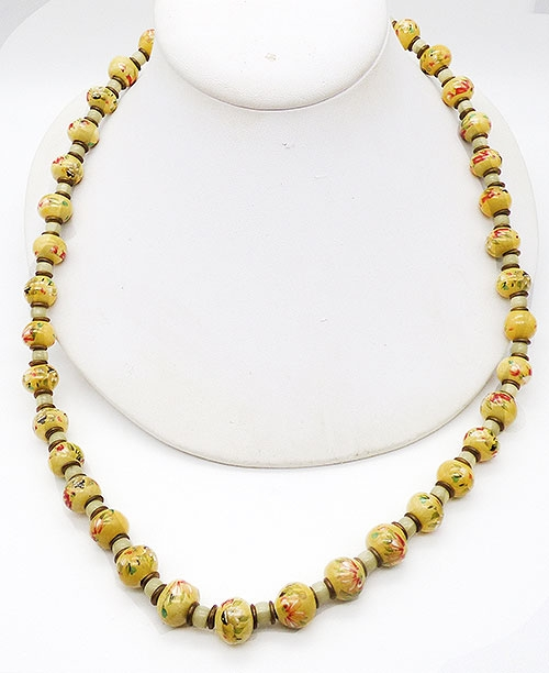 Newly Added Chinese Yellow Porcelain Bead Necklace
