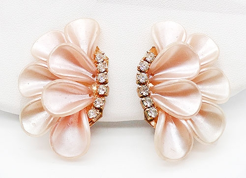 Newly Added Pink Spun Nylon Petals Earrings