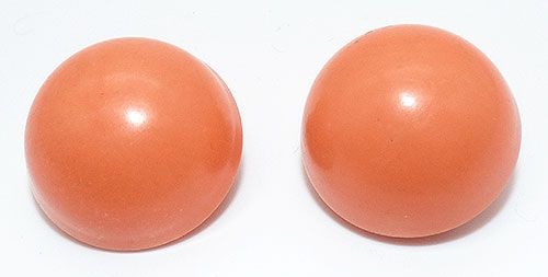 Newly Added Hong Kong Tangerine Button Earrings