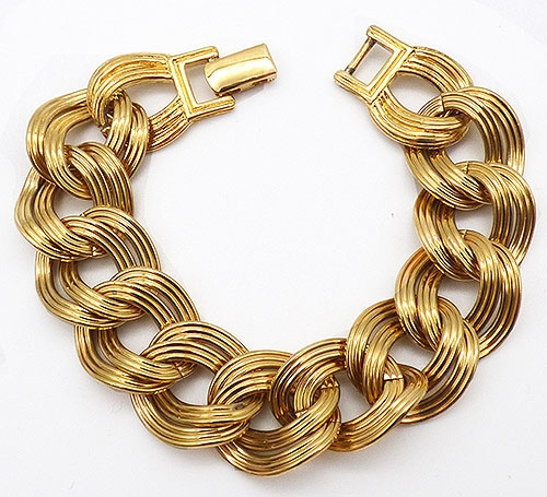 Newly Added Monet Gold Curb Chian Bracelet