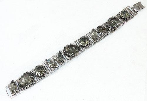 Newly Added Black Diamond Gray Rhinestone Bracelet