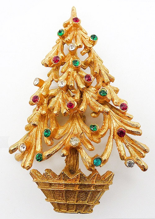 Newly Added Mylu Dimensional Christmas Tree Brooch