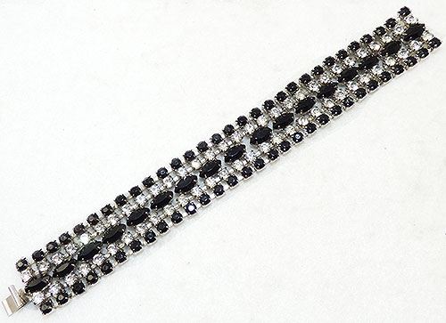 Newly Added Black and Clear Rhinestone Bracelet