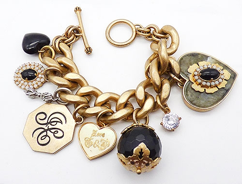 Newly Added Juicy Couture Heart Charms Bracelet