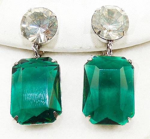 Newly Added Emerald Green Glass Drop Earrings