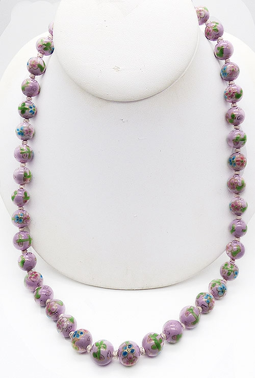 Newly Added Chinese Lavender Porcelain Beads Necklace