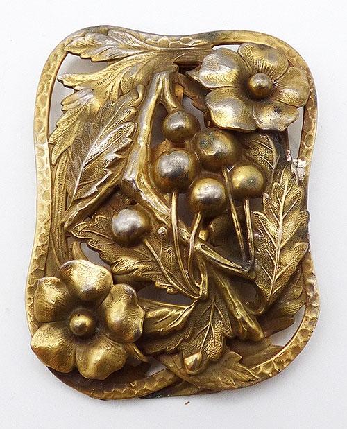 Art Nouveau - Art Nouveau Dimensional Flowers Dress Clip