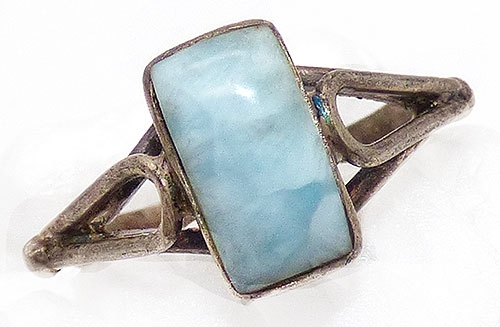 Newly Added Vintage Sterling Larimar Ring
