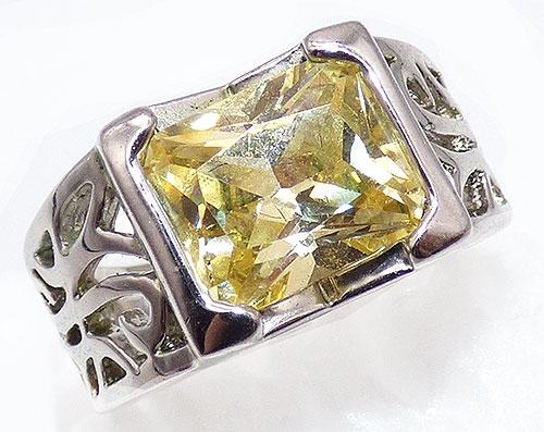 Rings - Lia Sophia Citrine CZ Fashion Ring