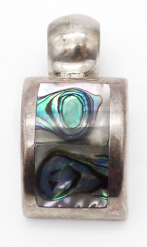 Misc. Signed A-F - ATI Mexican Sterling Abalone Pendant