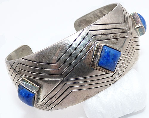 Newly Added Robert M Johnson Navajo Sterling Laps Bracelet