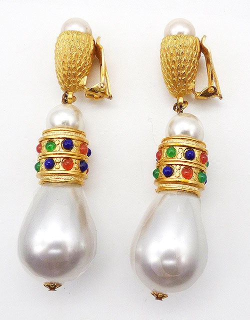 Newly Added Huge Faux Pearl Statement Earrings