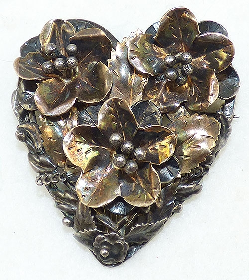 Hearts - Hobé Sterling Heart Brooch