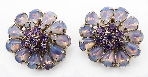 Newly Added Weiss Lavender Opaline Earrings
