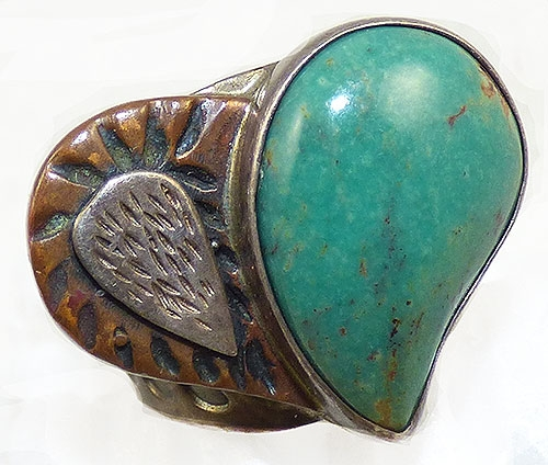 Semi-Precious Gems - Jay King Desert Rose Trading Turquoise Heart Ring