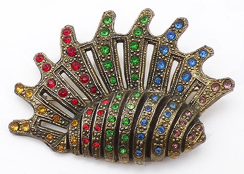Brooches - Little Nemo Rhinestone Shell Brooch