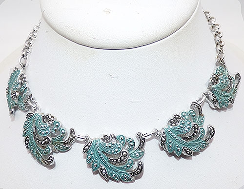 Newly Added West German Aqua Eloxal Necklace