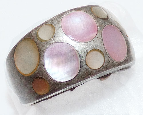 Newly Added Sterling Mother-of-Pearl Dots Ring