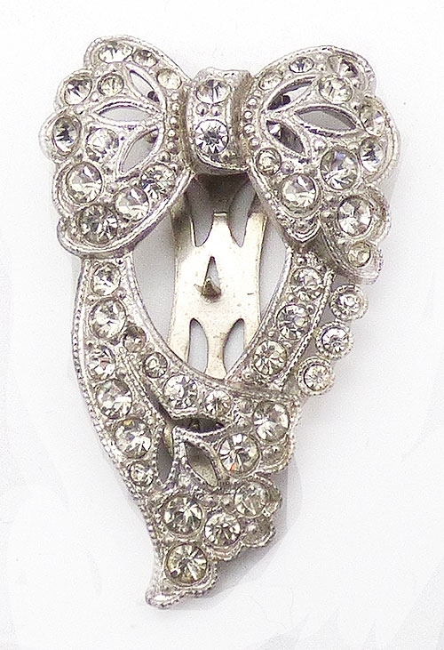Newly Added Art Deco Rhinestone Bow Dress Clip