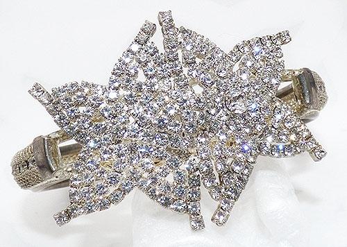 Newly Added Clear Rhinestone Double Stars Bracelet