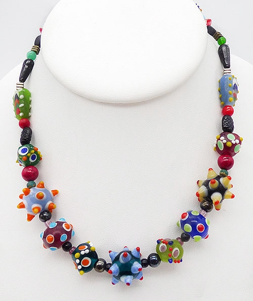 Newly Added Colorful Art Glass Bead Necklace