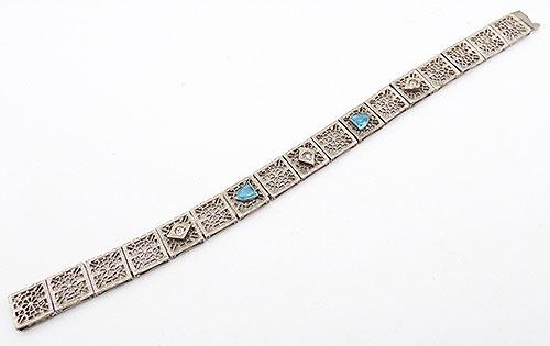Bracelets - E.I.Franklin Art Deco Filigree Bracelet