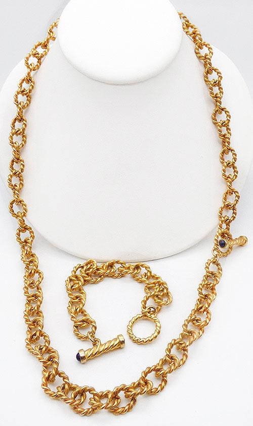 Newly Added Anne Klein Toggle Bracelet Necklace Set