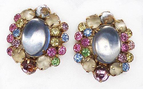 Earrings - Weiss Pastel Rhinestone Earrings
