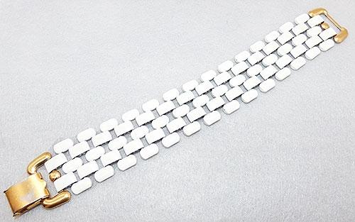Bracelets - Napier White Brick Link Bracelet