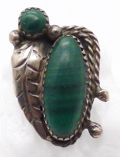 Semi-Precious Gems - J Roybal Sterling Malachite Ring