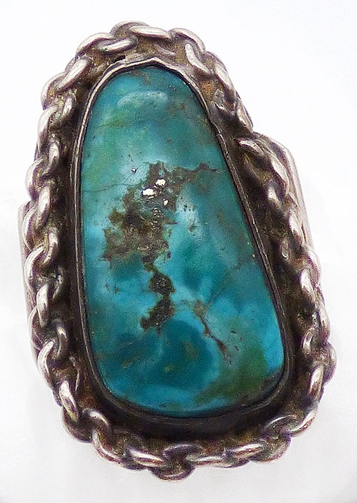 Newly Added Navajo Sterling Silver Turquoise Ring