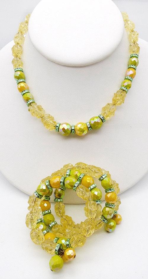 Hobé - Hobé Lemon Lime Beads Demi Parure