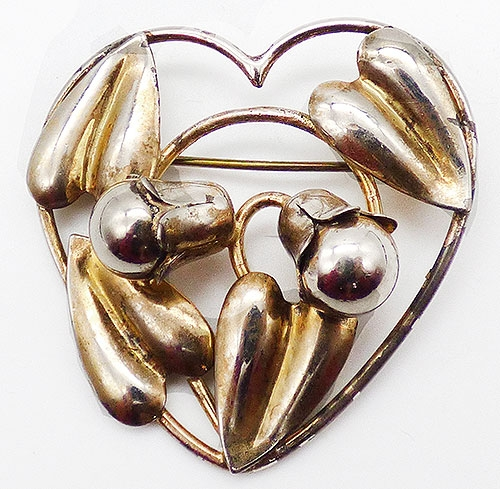 Hearts - McClelland Barclay Serling Heart Brooch