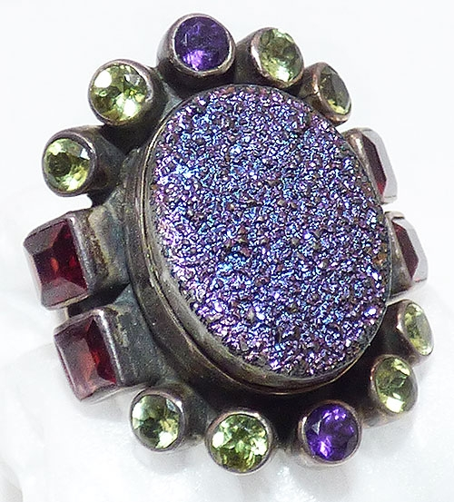 Semi-Precious Gems - Nicky Butler Sterling Druzy Ring