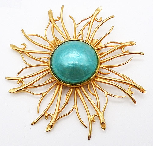 France - Dominique Aurientis Sunburst Brooch