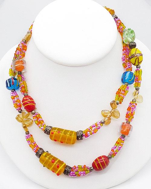Necklaces - Venetian Art Glass Beads Necklace