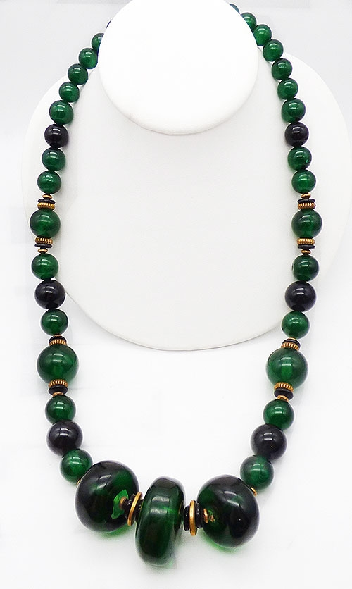 Newly Added Green Lucite Chunky Bead Necklace